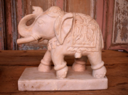 Hand carved Marble elephant <b>SOLD<b>